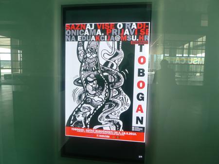 poster at MOCA, ZG.