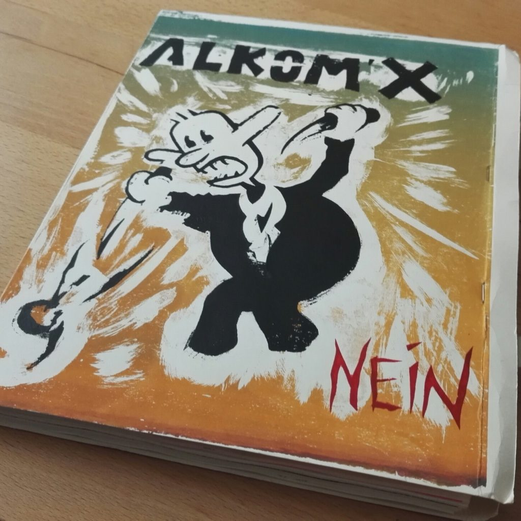 ALKOM'X 9-10 diy silkscreened zine