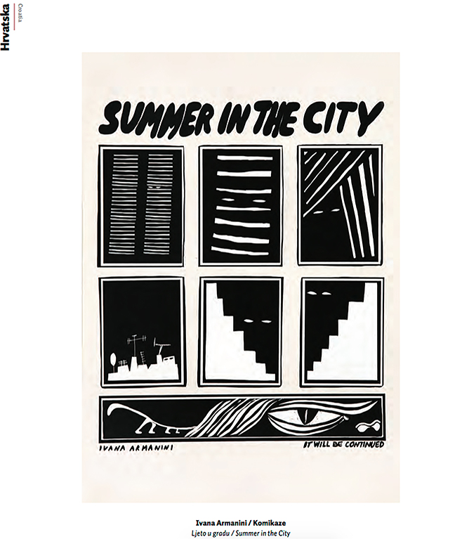 Comic Summer in the city by Ivana Armanini at Croatian Biennial of Illustration