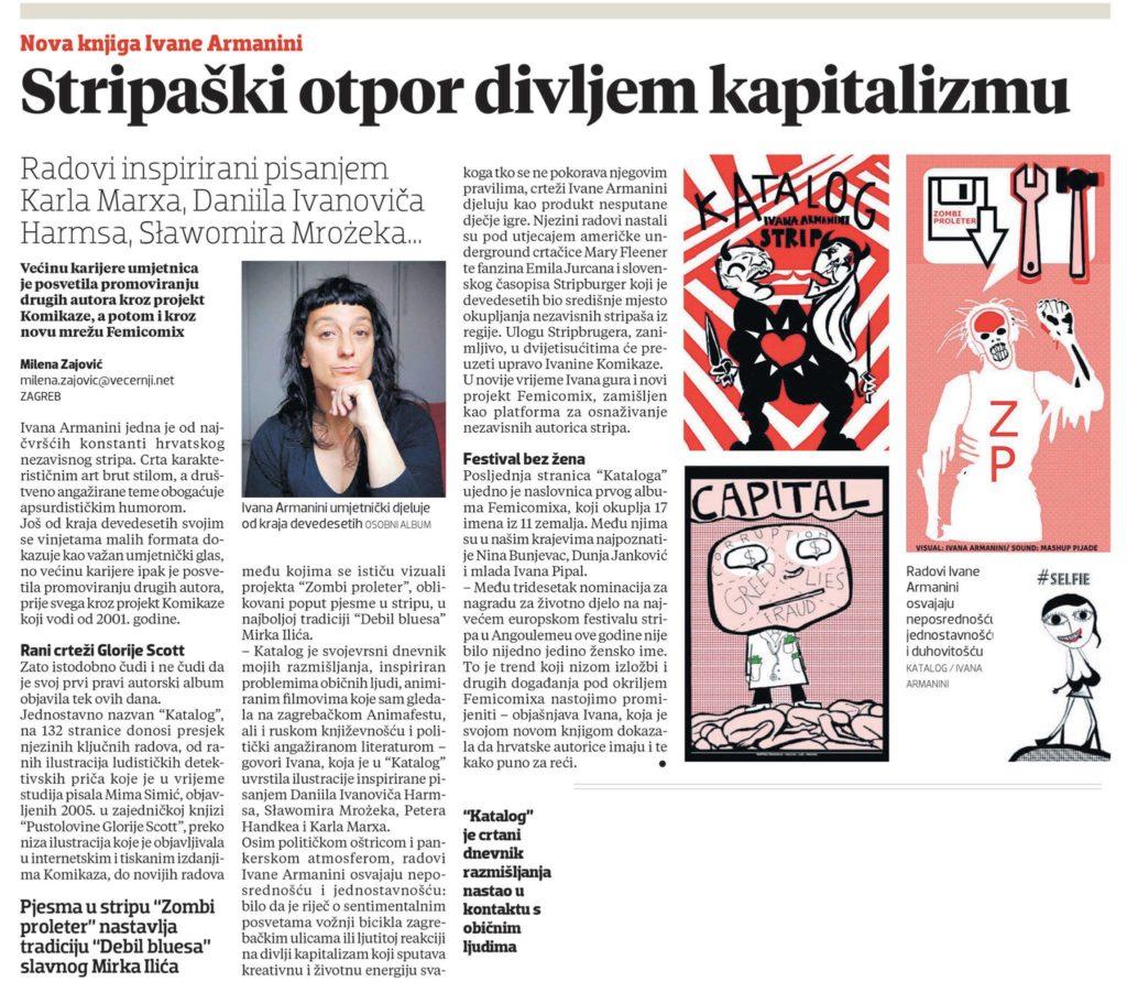 comic resistance to wild capitalism - review by milena zajovic, vecernji list