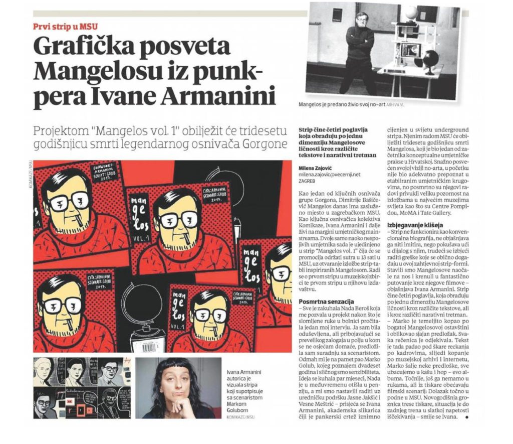 Review: Mangelos comic by punk pen of Ivana Armanini