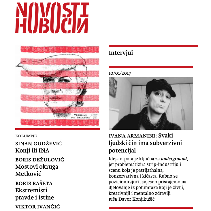 Interview with Ivana Armanini by Davor Konjikušić at Novosti, only engaged newspaper in Croatia: Every human act has a subversive potential