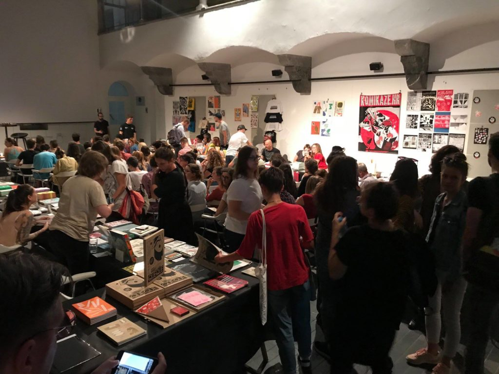 Art book fair caffeinehours featuring local and international independent and micro-publishers, and a meeting of designers, illustrators, photographers and artists on the Indigo - festival of contemporary design.