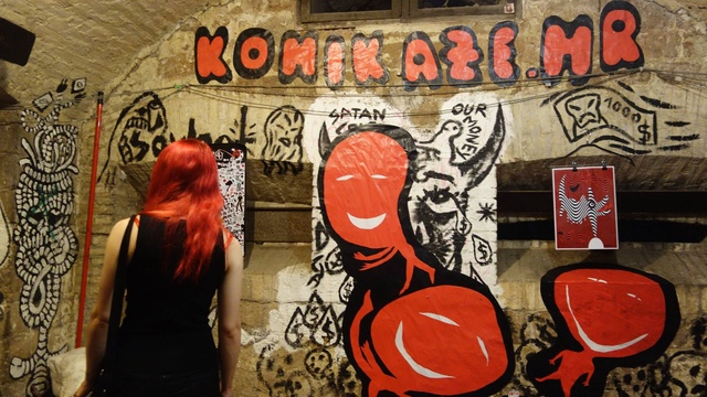 My mural for the 30th birthday of Forte Prenestino in Rome on the 12th edition of Crack festival dedicated to comics and drawn and printed art.