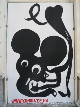 Mural by Ivana Armanini / Festival of the Non-aligned Comics – NOVO DOBA, Belgrade, Serbia / Knez Mihajlova Street.