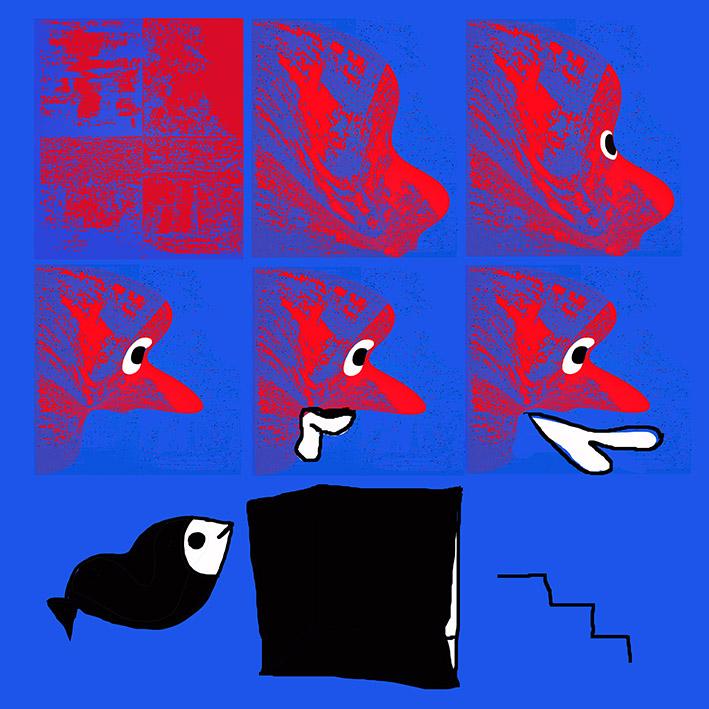 FISH LIPS digital prints