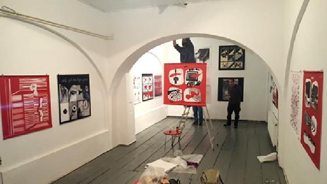 Komikaze exhibition_Ivana_Ostavinska Gallery_Belgrade